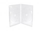 MediaRange DVD CASE FOR 2 DISCS,14mm,FROSTED/TRANSPARENT