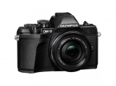 Camera foto Mirrorless Olympus E-M10 Mark III 16.1 MP, Black + Obectiv EZ-M1442 IIR Black
