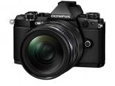 Camera Foto Olympus E-M5 Mark II black + EZ-M1240 PRO black + Lens Hood