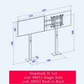 OMB STANDYALL - stand fix pentru VIDEOWALL, 1x2 single, landscape