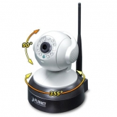 Planet 720P Wireless IR PT IP Camera: 11n Wireless, H.264, 3.6mm Lens, 720P@30fps, IR-10meter, ICR,