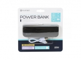 PLATINET POWER BANK LEATHER 7200mAh BLACK+microUSB CABLE