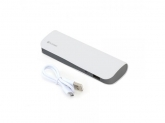 PLATINET POWER BANK LEATHER 7200mAh WHITE+microUSB CABLE