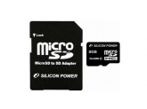 Memory Card Silicon Power Micro SDHC 8GB, Clasa 10 + Adaptor SD
