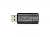 Stick memorie Verbatim Store 'n' Go PinStripe 64GB, USB 2.0, Black