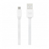 TNB FLAT MICRO USB CABLE 30CM - WHITE