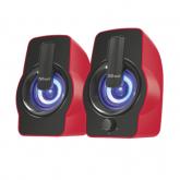 TRUST Gemi RGB 2.0 Speaker Set - red