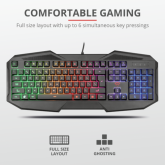 TRUST GXT 830 RW Avonn Gaming Keyboard - black