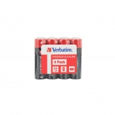 Verbatim  ALKALINE BATTERY AA 4PACK SHRINK