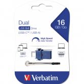 Verbatim Dual Drive USB 3.0/USB C 16GB
