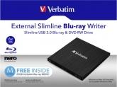 Verbatim Mobile Blu-ray ReWriter USB 3.0, incl. sw, Mdisc suppor