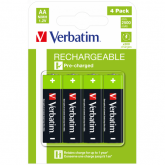 Verbatim Rechargeable Battery AA 4 Pack / HR6