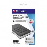 Verbatim Secure Portable HDD with Keypad access USB 3.1 GEN 1 2TB Black