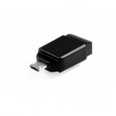 VERBATIM Store'n'Stay Nano USB Drive 64GB + OTG Adapter
