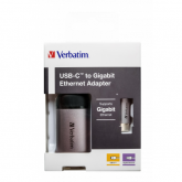 Verbatim USB-C TO GIGABIT ETHERNET ADAPTER 10 cm cable