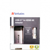 Verbatim USB-C TO HDMI 4K ADAPTER - USB 3.1 GEN 1/HDMI 10 cm cable