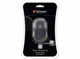 Verbatim  Wireless Laser GO Nano Mouse Black