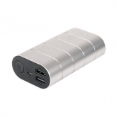 Verbatim10000mAH, 5v=2A in and out. 2x out metal incl lines