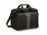 Wenger Legacy 16 inch  Double Gusset Computer Case, Black/Gray (R)