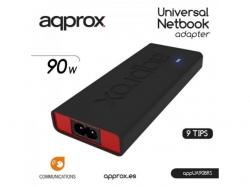 Approx APPROX 90W POWER AUT. NOTEBOOK ADAP. 10 TIPS SLIM BK