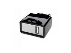 APPROX USB TRAVEL WALL CHARGER 5V/1Ax1 USB BLACK