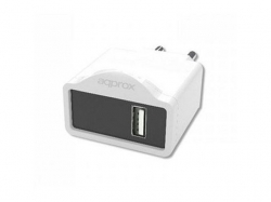 APPROX USB TRAVEL WALL CHARGER 5V/1Ax1 USB WHITE
