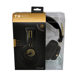 Gioteck - TX-40S Stereo Gaming Headset Black & Bronze for Xbox Series, Xbox One, PS5, PS4 & Mobile MULT Multi-Platform
