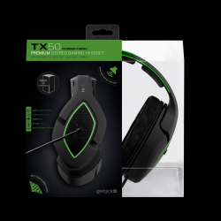 Gioteck - TX50 Premium Stereo Gaming Headset Green & Black for Xbox Series, Xbox One & Mobile MULT Multi-Platform