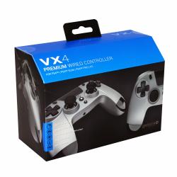 Gioteck - VX4 Premium Wired Controller with mini-jack port VX4 Titanium Grey for PS4 & PC MULT Multi-Platform