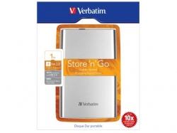 Hard Disk portabil Verbatim Store 'n' Go 1TB, USB 3.0, 2.5inch, Silver