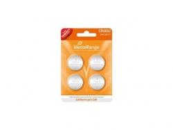 MediaRange Lithium Cion Cells, CR2032/3v Pack 4