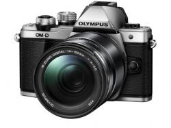 Olympus E-M10 Mark II silver + EZ-M1442 IIR silver