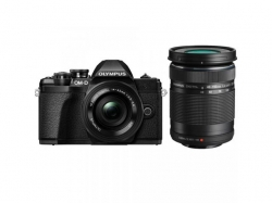 Camera foto Mirrorless Olympus E-M10 Mark III Pancake Double Zoom, 16.1MP, Black + Obectiv 2