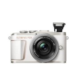 Olympus E-PL10 Pancake Zoom Kit white/silver