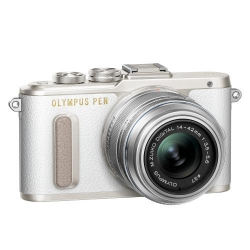 Olympus E-PL8 1442IIR Kit wht/slv (E-PL8 white + EZ-M1442IIR silver - incl. Charger & Battery)