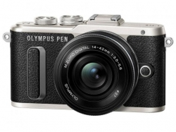 Olympus E-PL8 Pancake Zoom Kit black