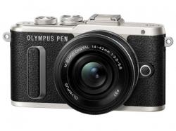 Olympus E-PL8 Pancake Zoom Kit black