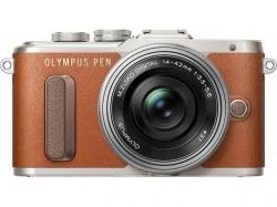 Olympus E-PL8 Pancake Zoom Kit brown