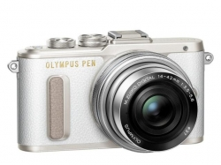 Olympus E-PL8 Pancake Zoom Kit white