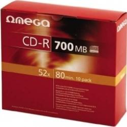 OMEGA CD-R 700MB 52XSLIM CASE'10