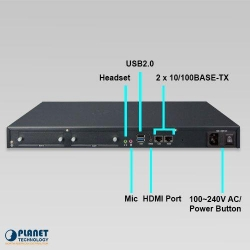 Planet 200 User Asterisk base Advance IP PBX with 2-expandable PCI interface slots, Proxy Server-SIP