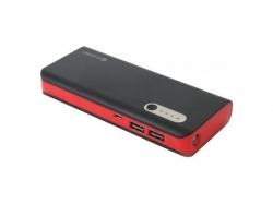 PLATINET POWER BANK 13000mAh +microUSB cable + torch BLACK/RED