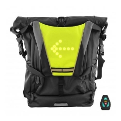 TNB URBAN MOOV - Led safety vest + remote control, black/yellow
