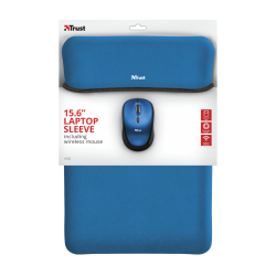 """TRUST Yvo 15.6"""" Laptop Sleeve and Wireless Mouse - Blue/Black"""