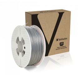 Verbatim 3D PRINTER FILAMENT PLA 1.75MM SILVER/METAL GREY 1KG