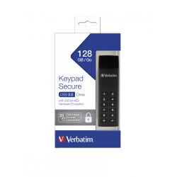 VERBATIM KEYPAD SECURE USB 3.0 DRIVE 128GB