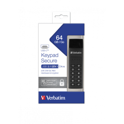 VERBATIM KEYPAD SECURE USB-C 3.1  64GB