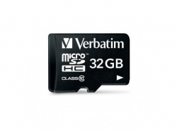 Verbatim  MICROSDHC  CLASS 10 32GB INCL ADAPTOR