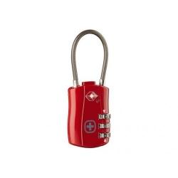 Wenger incuietoare TSA cu cablu, rosu