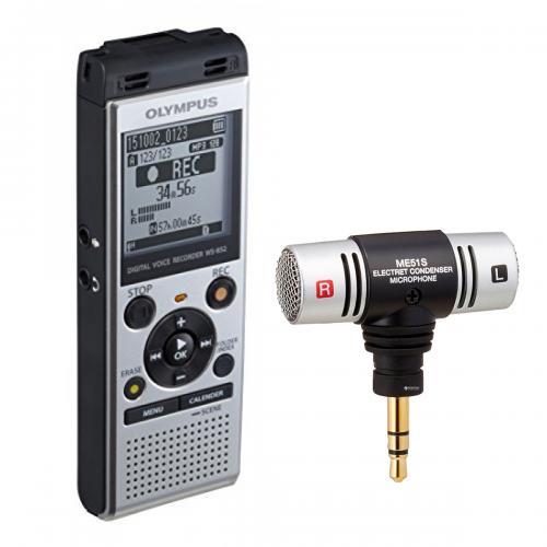 Bundle kit Olympus WS-852 Silver (4GB) + ME51 Stereo Microphone